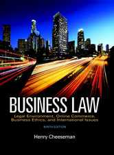 Sell back Business Law (9th Edition) 9780134004006 / 0134004000