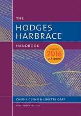 Sell back Hodges Harbrace Handbook, 2016 MLA Update 9781337279512 / 133727951X