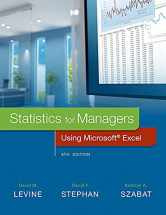 Sell back Statistics for Managers Using Microsoft Excel (8th Edition) 9780134173054 / 0134173058