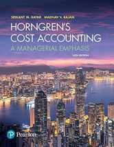 Sell back Horngren's Cost Accounting: A Managerial Emphasis (16th Edition) 9780134475585 / 0134475585
