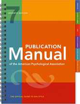 Sell back Publication Manual of the American Psychological Association: 7th Edition, 2020 Copyright 9781433832178 / 1433832178