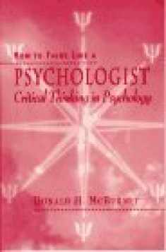 How to Think Like a Psychologist: Critical Thinking in Psychology