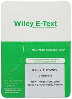 How Things Work, 6e Wiley E-Text Reg Card