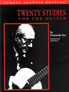 Andres Segovia - 20 Studies for Guitar: Book Only (GUITARE)