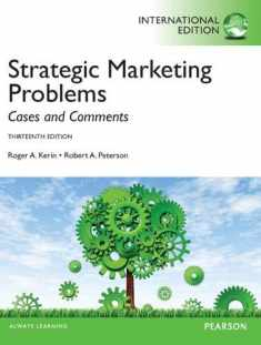 Strategic Marketing Problems International Edition [Paperback] [Jan 01, 2012] Author