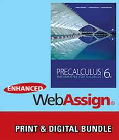Bundle: Precalculus: Mathematics for Calculus, 6th + WebAssign Printed Access Card for Stewart/Redlin/Watson's Precalculus: Mathematics for Calculus, 6th Edition, Single-Term