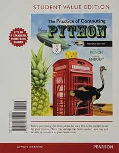 Student Value Edition for The Practice of Computing Using Python Plus MyProgrammingLab with Pearson eText -- Access Card Package (2nd Edition)