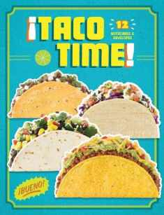 Taco Time: 12 Notecards & Envelopes (Taco Themed Greeting Cards, Stationery Gift for Taco Lover)