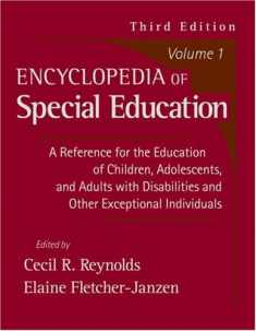 Encyclopedia of Special Education Volume 1, 3rd Edition