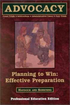 Planning to Win: Effective Preparation