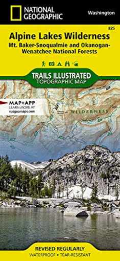 Alpine Lakes Wilderness [Mt. Baker-Snoqualmie and Okanogan-Wenatchee National Forests] (National Geographic Trails Illustrated Map, 825)
