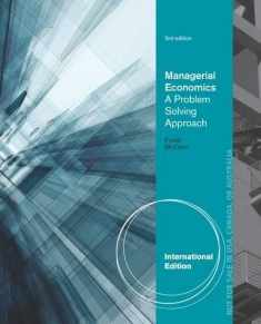 Managerial Economics: A Problem Solving Approach