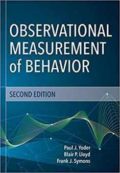 Observational Measurement of Behavior