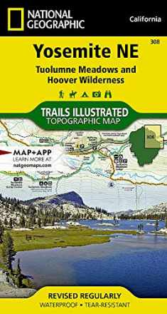 Yosemite NE: Tuolumne Meadows and Hoover Wilderness (National Geographic Trails Illustrated Map, 308)