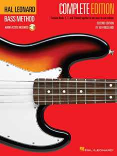 Hal Leonard Bass Method - Complete Edition: Books 1, 2 and 3 Bound Together in One Easy-to-Use Volume! Bk/Online Audio (GUITARE BASSE)