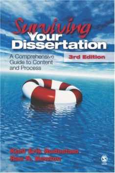 Surviving Your Dissertation: A Comprehensive Guide to Content and Process (Surviving Your Dissertation: A Comprehen (Hardcover))