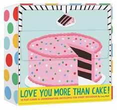 Love You More Than Cake Cards 12 Flat Cards & Coordinating Envelopes for Every Occasion (Greeting Cards with Food Illustrations, Lucy Halcomb Stationery)