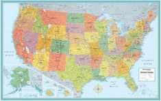 "Rand Mcnally Us Wall Map (M Series U.S.A. Wall Maps) 50""x32"""