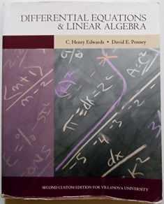 Differential Equations & Linear Algebra [2nd Custom Edition for Villanova]