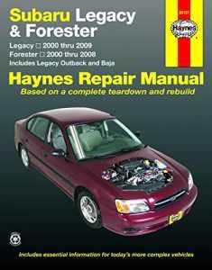 Subaru Legacy & Forester covering Legacy (00-09) & Forester (00-08), inc. Legacy Outback & Baja Haynes Repair Manual