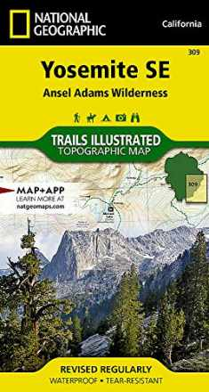 Yosemite SE: Ansel Adams Wilderness (National Geographic Trails Illustrated Map) (National Geographic Trails Illustrated Map, 309)
