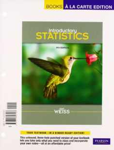 Introductory Statistics, Books a la Carte Plus MyStatsLab Student Access Code Card (9th Edition)