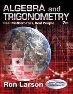 Algebra and Trigonometry: Real Mathematics, Real People