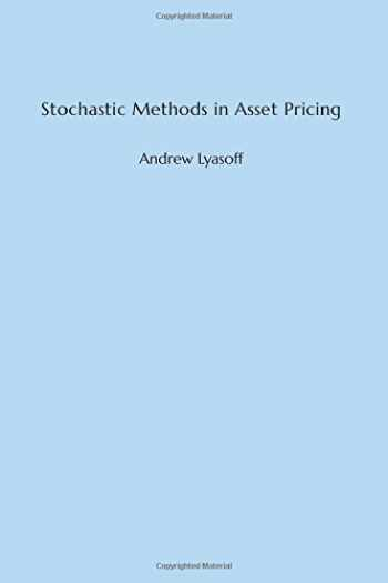 9780262036559-026203655X-Stochastic Methods in Asset Pricing (The MIT Press)