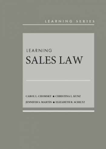 9781634596817-1634596811-Learning Sales Law (Learning Series)