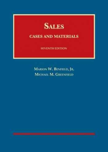 9781628103526-1628103523-Cases and Materials on Sales (University Casebook Series)