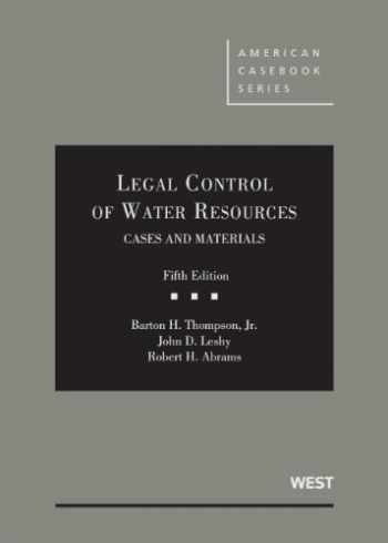 9780314284853-0314284850-Legal Control of Water Resources (American Casebook Series)