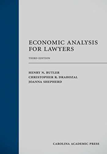 9781594609978-1594609977-Economic Analysis for Lawyers, Third Edition