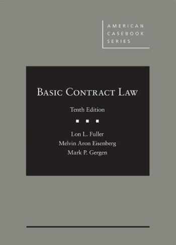 9781683285694-1683285697-Basic Contract Law (American Casebook Series)