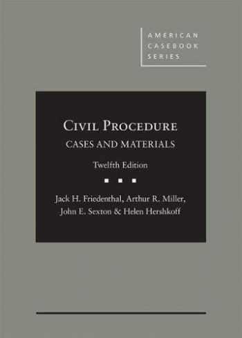 9781634605847-1634605845-Civil Procedure: Cases and Materials (American Casebook Series)