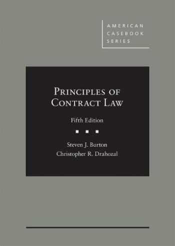 9781634605977-1634605977-Principles of Contract Law (American Casebook Series)
