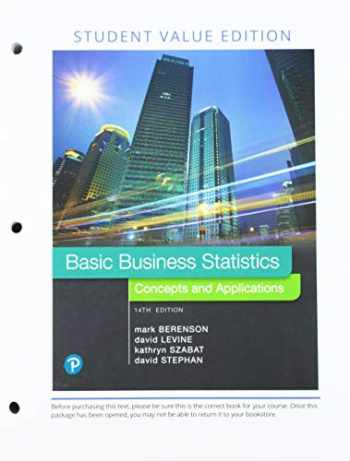 9780135192276-0135192277-Basic Business Statistics, Loose Leaf Edition Plus MyLab Statistics with Pearson eText -- 24 Month Access Card Package (14th Edition)