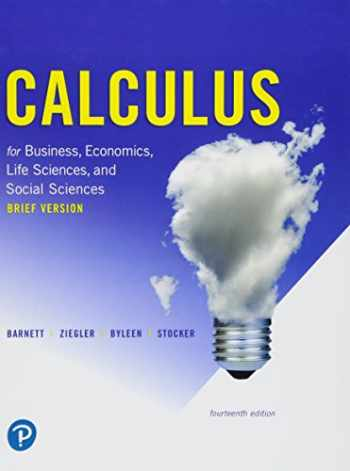 9780134851990-0134851994-Calculus for Business, Economics, Life Sciences, and Social Sciences, Brief Version (14th Edition)