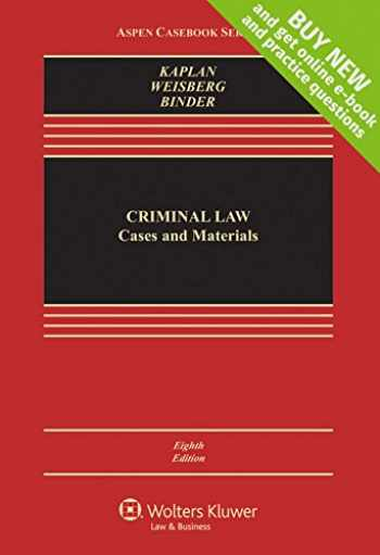 9781454868217-145486821X-Criminal Law: Cases and Materials [Connected Casebook] (Aspen Casebook)