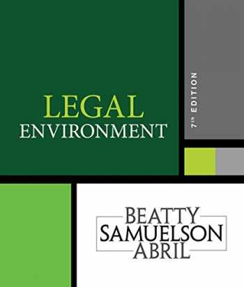 9781337390460-1337390461-Legal Environment