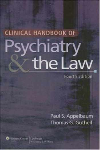 9780781778916-0781778913-Clinical Handbook of Psychiatry and the Law (CLINICAL HANDBOOK OF PSYCHIATRY & THE LAW (GUTHEIL))