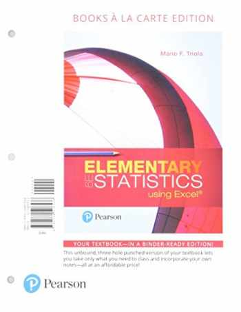 9780134763767-0134763769-Elementary Statistics Using Excel, Books A La Carte Edition Plus NEW MyStatLab with Pearson eText -- Access Card Package (6th Edition)