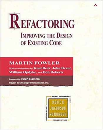 9780201485677-0201485672-Refactoring: Improving the Design of Existing Code