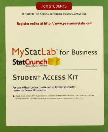 9780321921468-0321921461-MyStatLab with eText for Business Statistics -- Standalone Access Card
