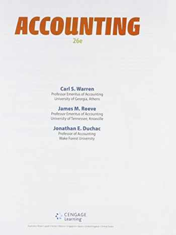 9781305617063-1305617061-Bundle: Accounting, Loose-Leaf Version, 26th + CengageNOWv2, 2 term Printed Access Card
