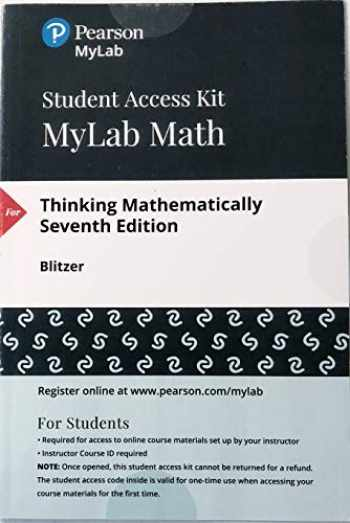 9780134705095-0134705092-MyLab Math with Pearson eText -- Access Card -- for Thinking Mathematically