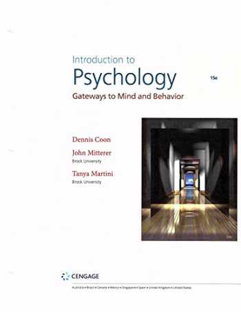 9781337565738-1337565733-Introduction to Psychology: Gateways to Mind and Behavior (15th Edition), Looseleaf Version