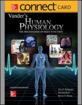 Sell Buy Or Rent Connect Access Card For Vanders Human Physiology