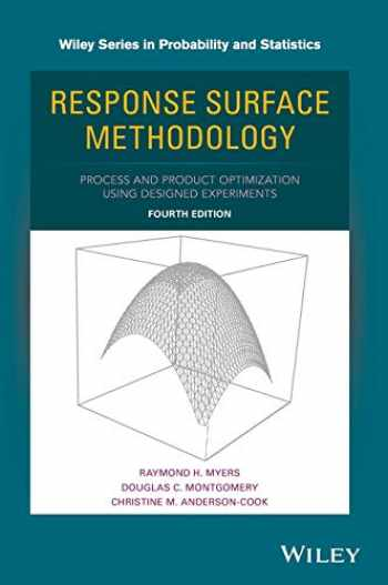 9781118916018-1118916018-Response Surface Methodology: Process and Product Optimization Using Designed Experiments (Wiley Series in Probability and Statistics)