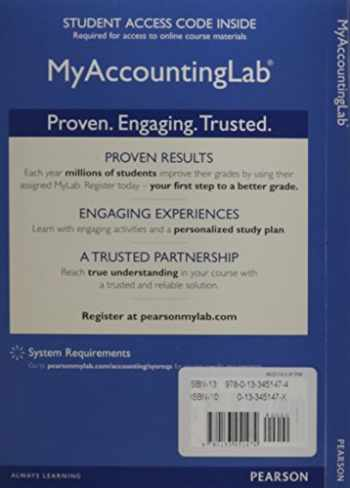 9780133451474-013345147X-NEW MyAccountingLab with Pearson eText -- Access Card -- for Cost Accounting