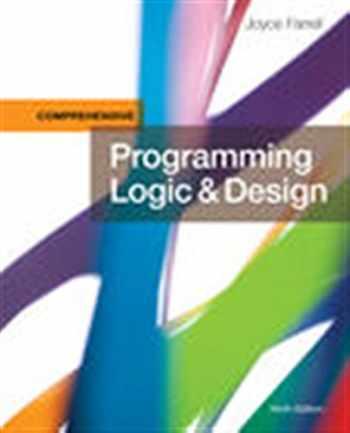 9781337102070-1337102075-Programming Logic & Design, Comprehensive